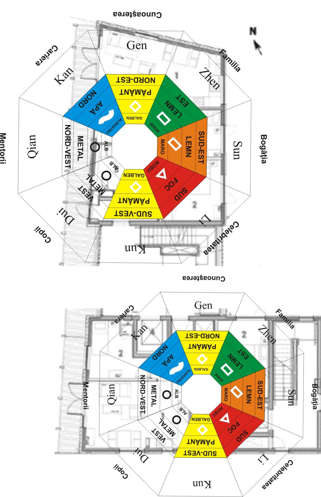 Prin separarea celor două laturi ale planului casei, se realizeaza o analiză complet diferită a celor două corpuri de casă, toate zonele fiind corect aspectate.
