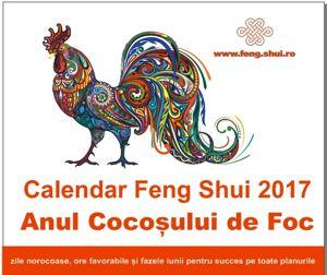 Calendar Feng Shui 2017 in limba romana