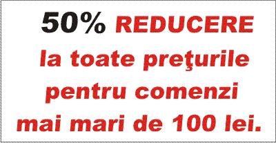 50% reducere la toate produsele!