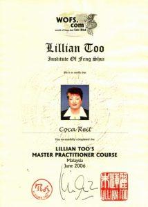 Diploma obținută la Master Practitioner Course - Malaezia 2006
