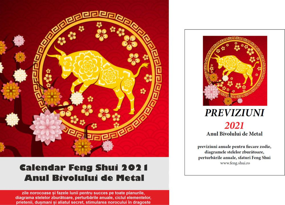 Calendarul Feng Shui 2021 și Previziuni 2021 pentru fiecare zodie în limba română!